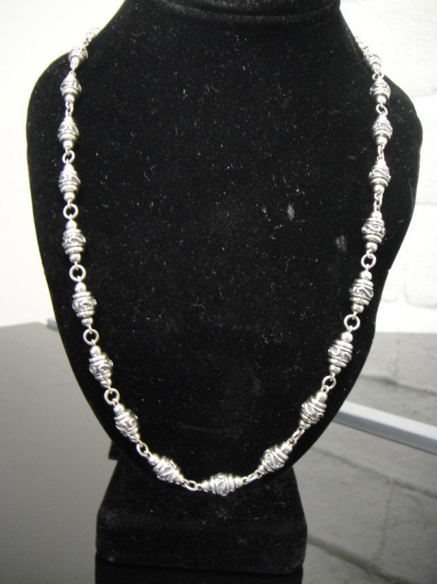 4C: Gents Genuine Pure Sterling Silver necklace chain