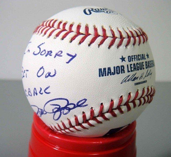 """1X: Pete Rose """"I'm Sorry I Bet on Baseball"""" Signed Bas"""