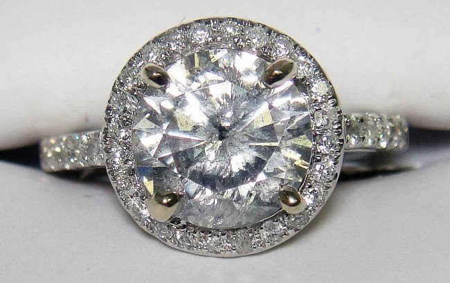 24A:  2.77CTW (2.35ct CNTR) Diamond 14KT White GOLD RIN