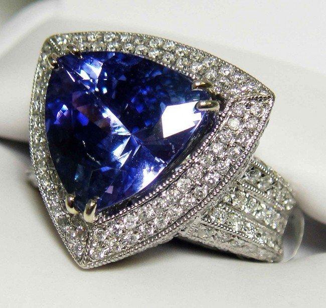 31:  6.01CT Tanzanite & 1.73CT Diamond 14KT GOLD Ring