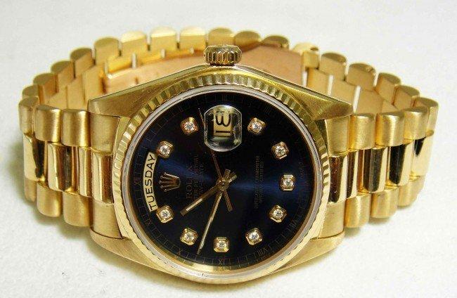 73: Genuine ROLEX 18KT DayDate Presidential Wristwatch