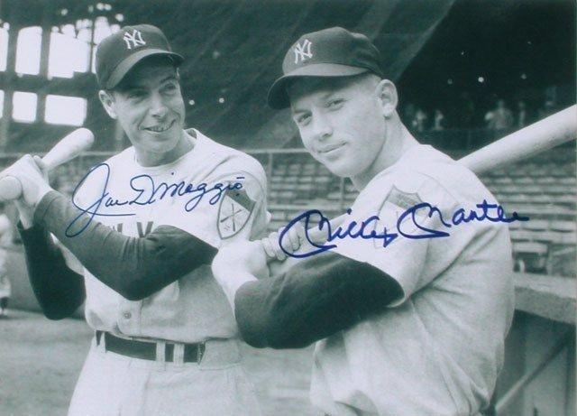 31A: Authentic Signed Joe DiMaggio & Mickey Mantle Memo