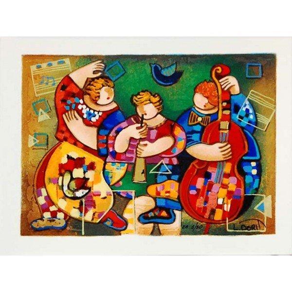 "Dorit Levi ""The Trio of the Night"" Hand Signed Serigrap"