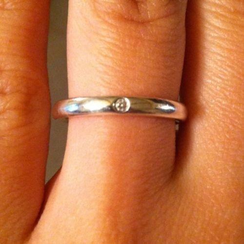 1: Genuine Tiffany & Co. 0.02ct Diamond Ring w/ COA