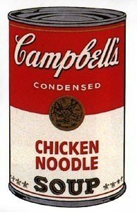 1A: ANDY WARHOL Campbell's Soup (chicken noodle) Poster