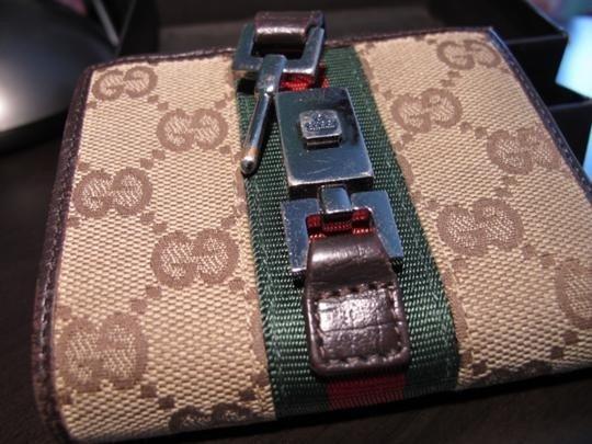 1B: Gucci Monogram Canvas Wallet 100% Authentic Unisex