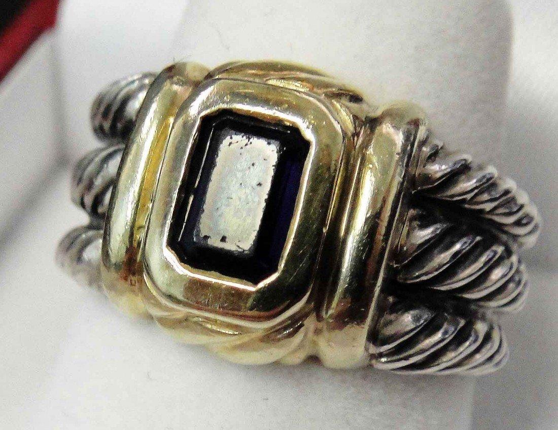 1D: David Yurman 14k & Sterling Silver Iolite Ring - Si
