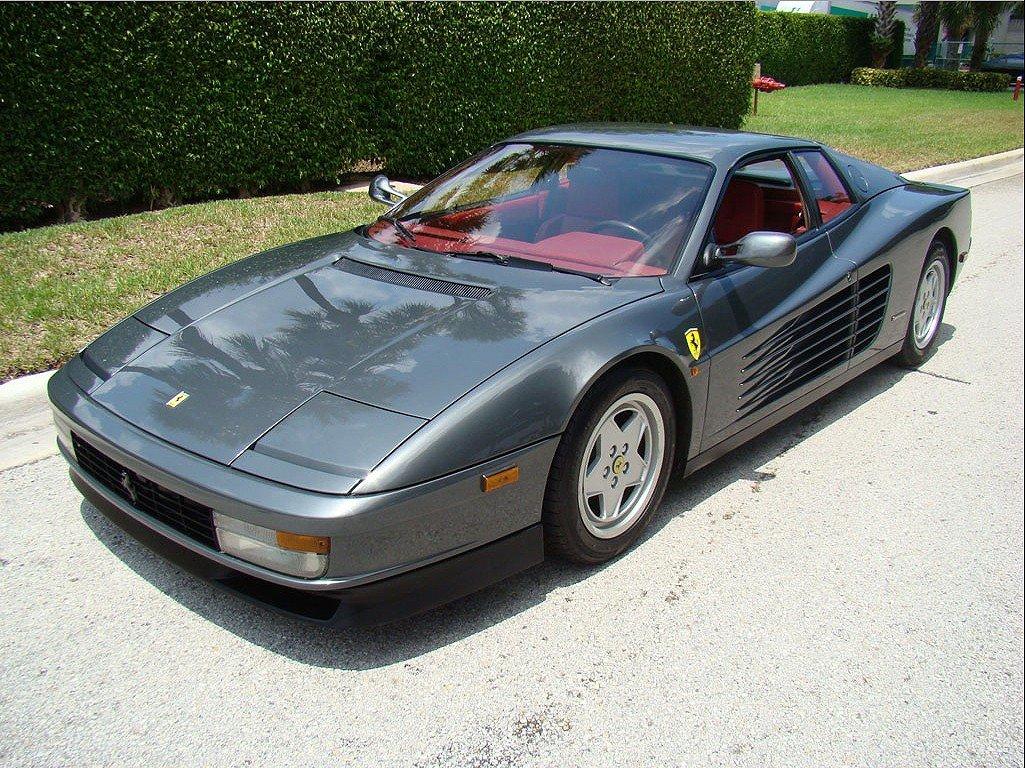 1991 Grey Ferrari Testarossa Red Leather 69K Miles V12