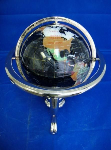 110C: GEMESTONE OPAL WORLD GLOBE WITH STAND