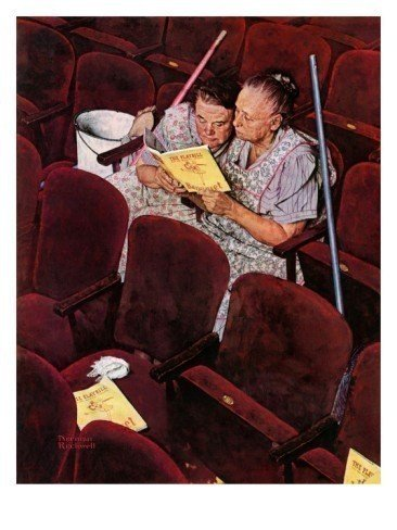 """4: Norman Rockwell """"Charwomen"""" April 6,1946 Signed P"""