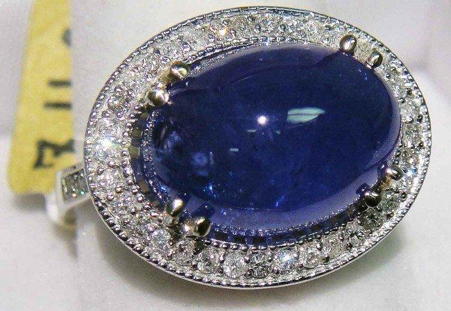 2C: 9.73ct Tanzanite & 0.37ctw Diamond 14KT Gold Ring G