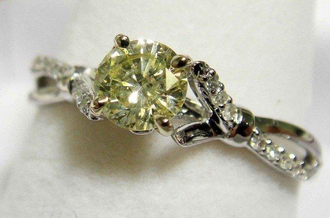 3C: 0.55ct (0.48ct CNTR) Diamond 18KT Gold Ring