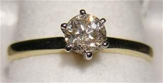 13D: 0.41ct Diamond Solitaire 14KT Yellow & White Gold