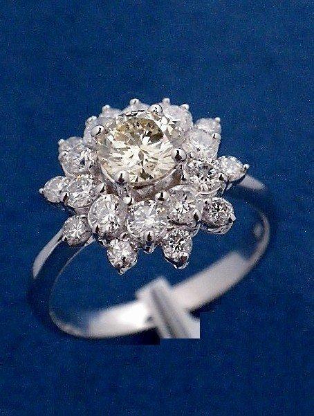 2: 1.45ctw (0.58ct CNTR) Diamond 14KT White Gold Ring