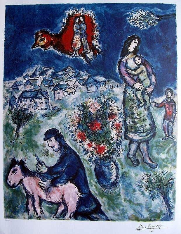 4A: Marc Chagall - SIR LA ROUTE DU VILLAGE Unframed