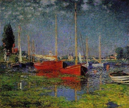8A: Claude Monet Pleasure Boats at Argenteuil .