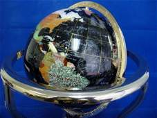 13B GEMESTONE OPAL WORLD GLOBE WITH STAND