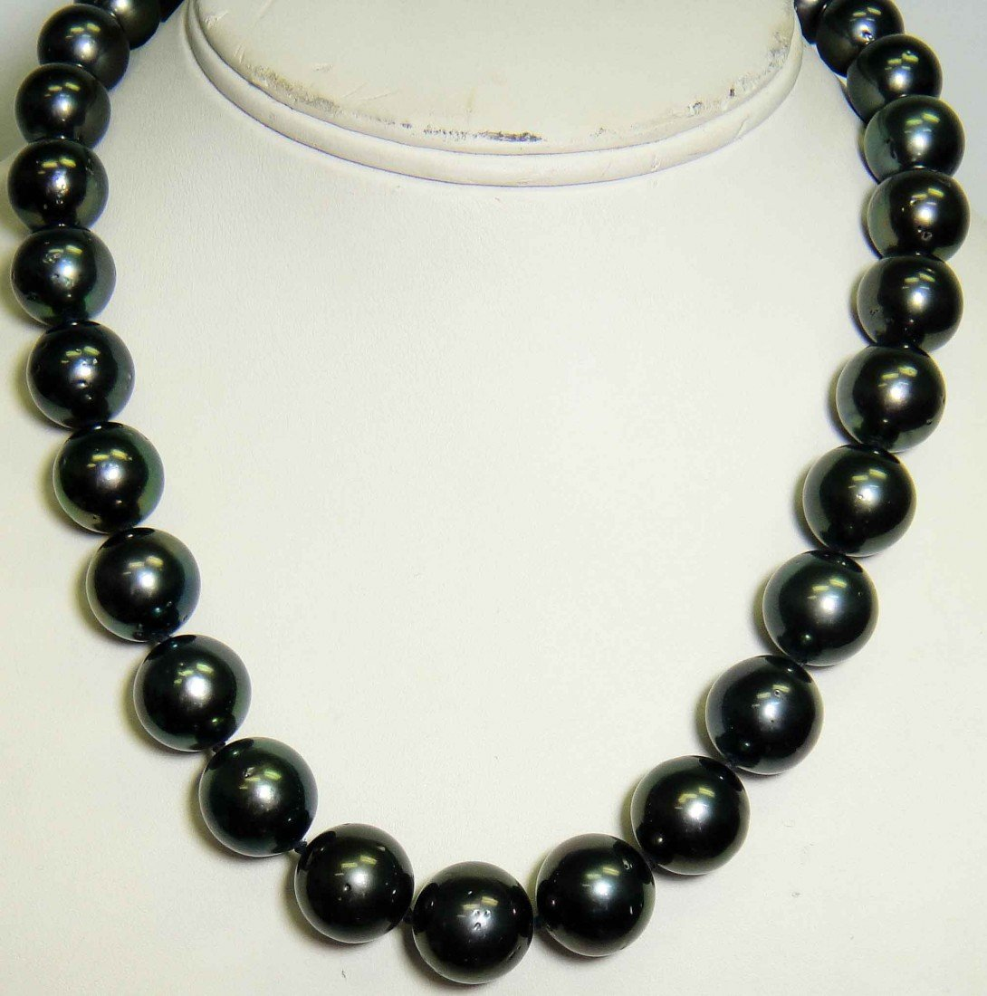 14mm - 12mm Tahitian South Sea Cultured Pearl Necklace