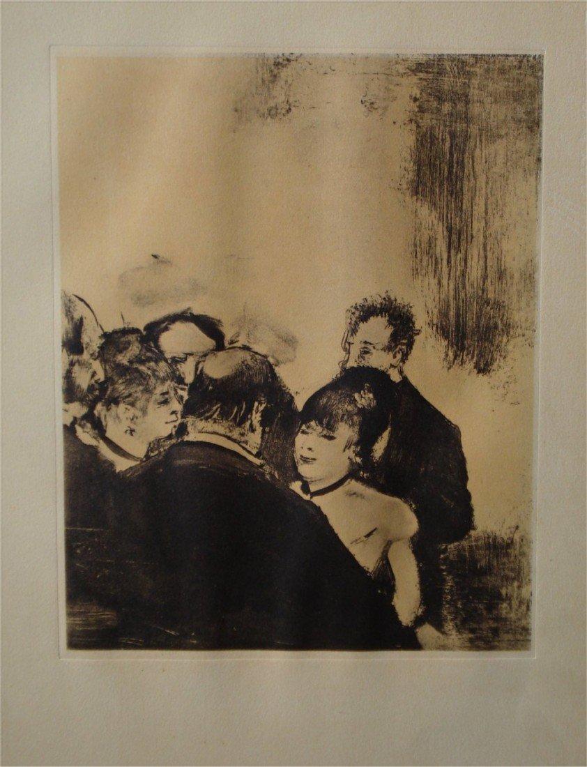"1: DEGAS ""Famille Cardinale "" Rare LITHOGRAPHIE 1938"