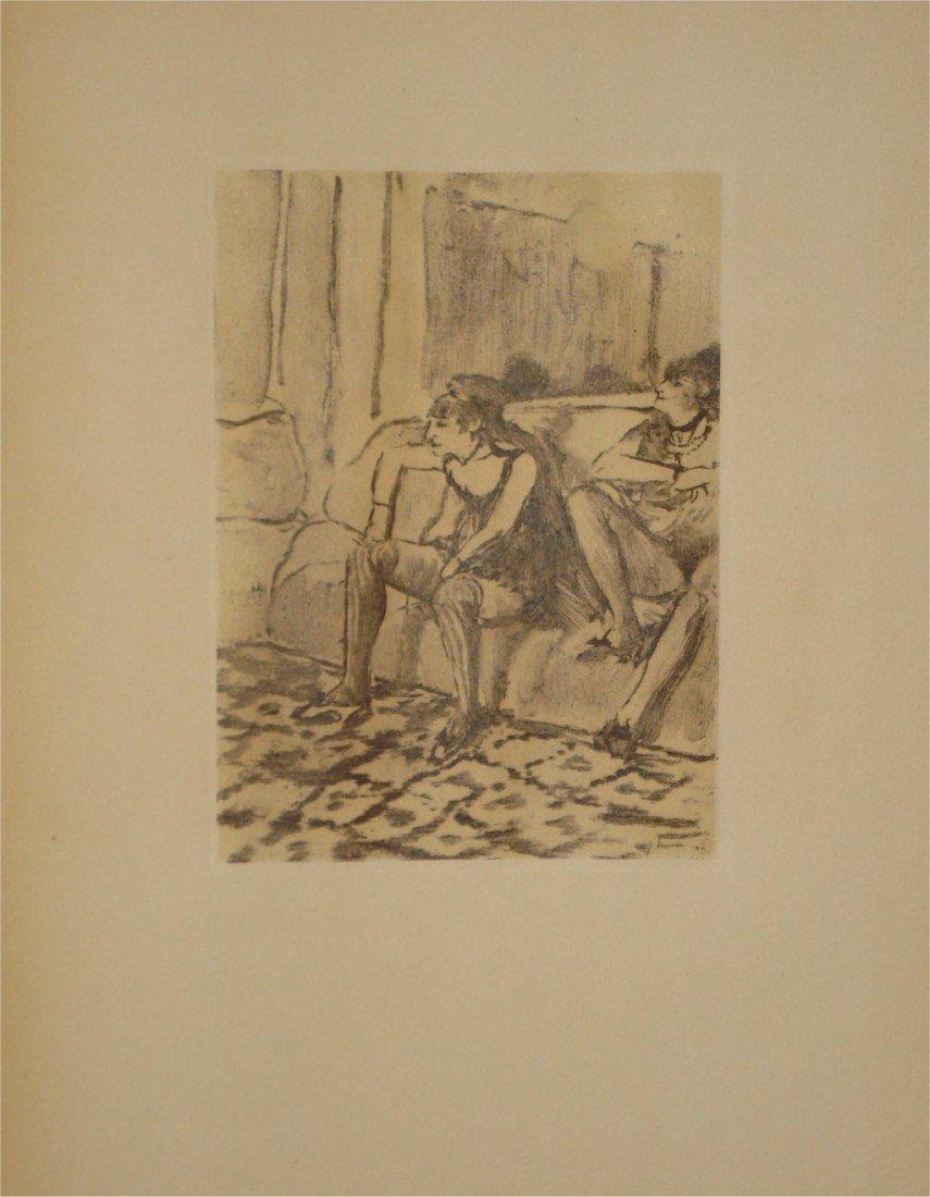 """2: DEGAS """"Deux Femmes """" Rare LITHOGRAPHIE #1938"""