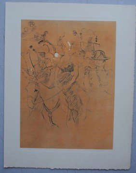 "3: TOULOUSE-LAUTREC ""Moulin Rouge""  LITHO SIGNEE"