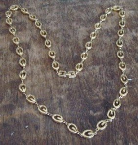 "2B: Vtg Signed Long Strand Signature ""G"" Givency Goldto"