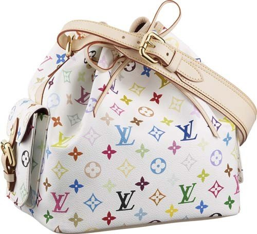 Authentic Louis Vuitton Petit Noe Leather Mono Handbag