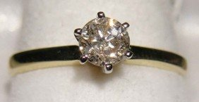 0.41ct Diamond Solitaire 14KT Yellow & White Gold Ring