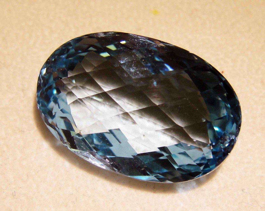 76.05ct Natural Blue Topaz Gemstone with GLA Certificat