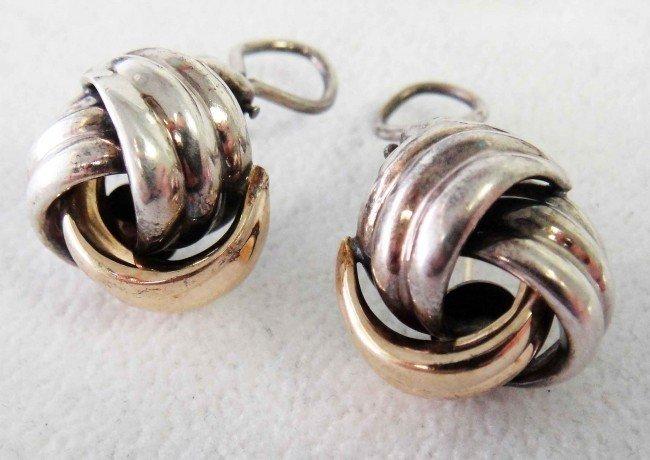 7: Genuine Tiffany & Co. Silver & 14KT Gold Earrings