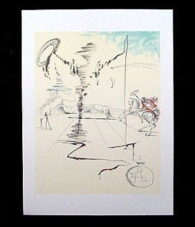 3A: Salvador Dali - CHEVALIER Unframed Offset Litho