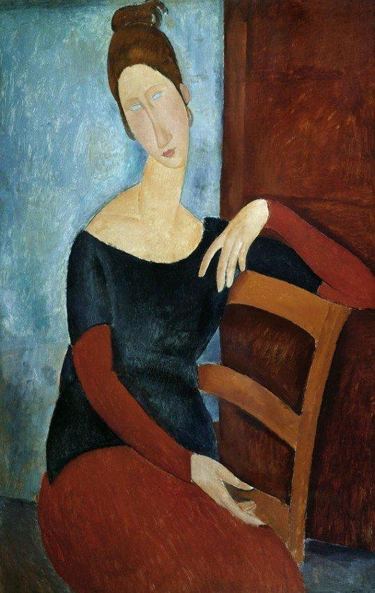 "6A: Amedeo Modigliani "" The Artist's Wife""."