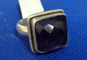 Handmade Natural Purple Amethyst Sterling Silver
