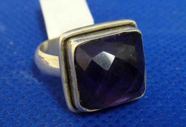 1C: Handmade Natural Purple Amethyst Sterling Silver