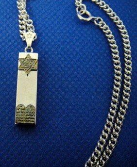 Sterling Silver Mezuzah Necklace Judaica Jewish
