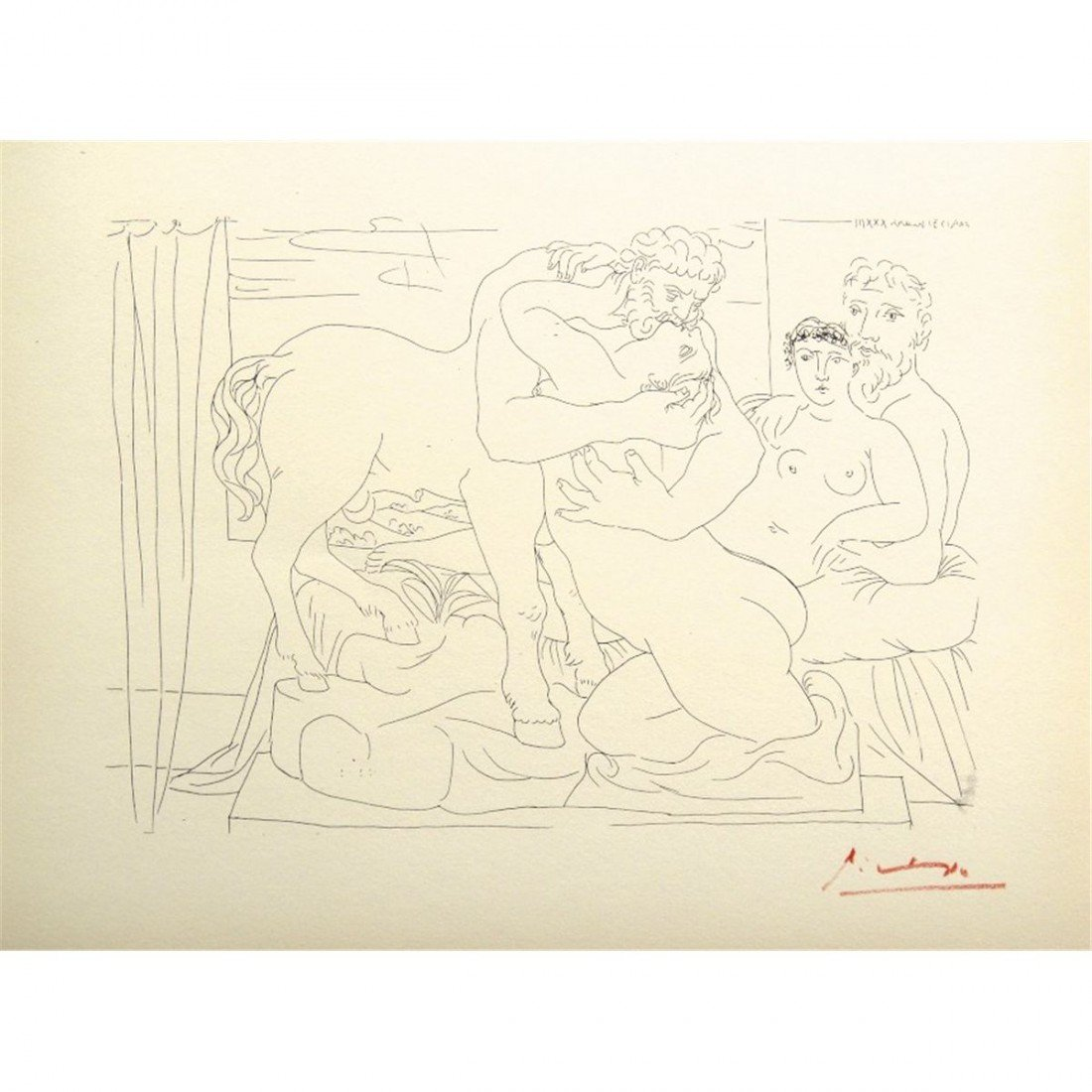 Pablo PICASSO - Suite Vollard 4 - Plate Signed Lithogra