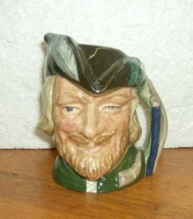 Vintage English Royal Doulton Hand Painted  Toby Ju