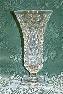 11A: Vintage FOSTORIA American Art Deco Cubist FOOTED