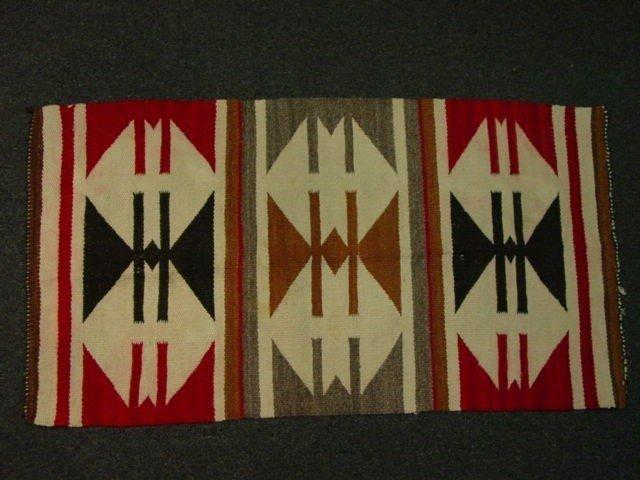 16A: VINTAGE NATIVE AMERICAN INDIAN NAVAJO SAMPLER RUG