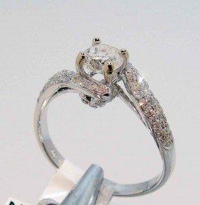 0.86ct (0.58ct CNTR) Diamond 18KT White Gold Ring