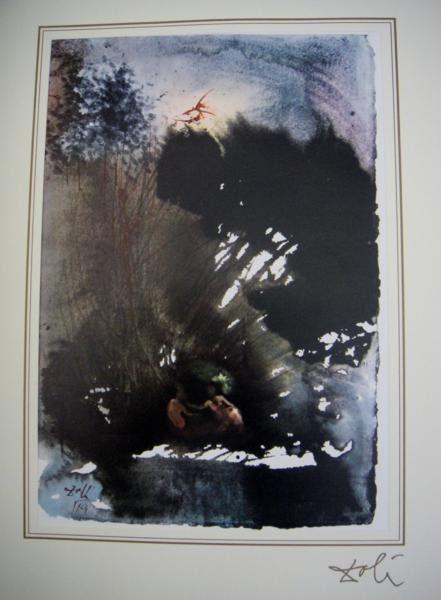 12B: Salvador Dali Bible Lithograph Ars Mundi X-319