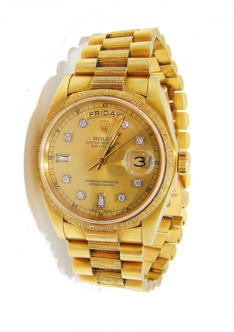 173: ROLEX 18KT Gold Day-Date Presidential Wristwatch