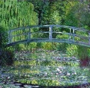 4B: Claude Monet Water Lily Pool Giclee Print