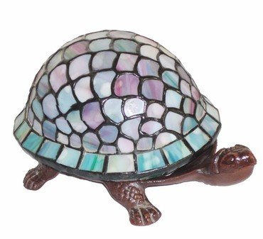 2A: Tiffany Light Turtle Accent Lamp Bronze Finish