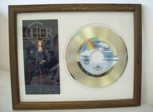 "2C: "" Cher "" Gold plated record Half Breed"