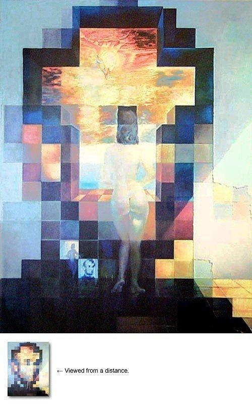 2A: Salvador Dali - LINCOLN IN DALI VISION- Unframed