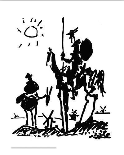 """5A: Pablo Picasso """"Don Quixote"""" LE Offset Lithograph"""