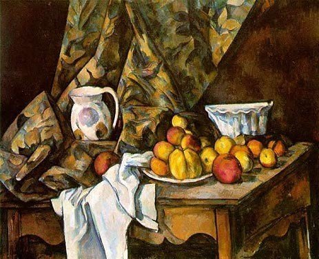 """6A: Paul Cezanne """"Still Life with Apples and Peaches"""" G"""