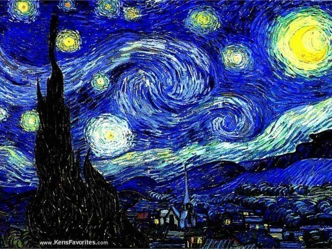 """7A: Vincent Van Gogh """"Starry Night"""" LE Giclee on Paper"""
