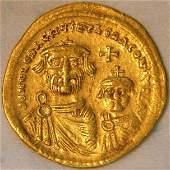 Ancient Byzantine Gold Coin HERACLIUS AV 610-641 A